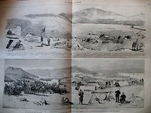 TUNISIE-EXPEDITION-CAMP-REMEL-SOUK-22e-DE-LIGNE-KROUMIRS-TABARKA-GRAVURES-1881