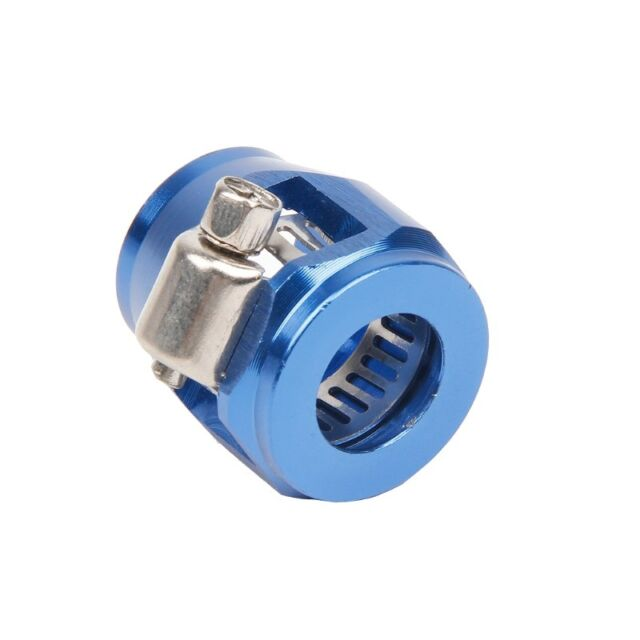 Blue AN8 8 AN Hose End Finisher Aluminium Alloy Fuel Oil Water Pipe Clip Clamp