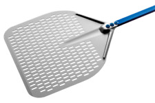 Pala per pizza rettangolare forata in alluminio anodizzato A-32RF/60  33x33cm