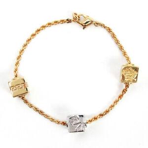 giann-Versace-bracelet-Medusa-Gold-Plated-Used-Auth-T10092