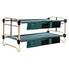 Item 1 Disc O Bed X Large Cam Bunk Benchable Bunked Double Cot With Organizers Green