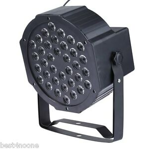 36W RGB LED Flat Par Light Stage Lamp Disco DJ Bar Effect UP Lighting 36 LEDs