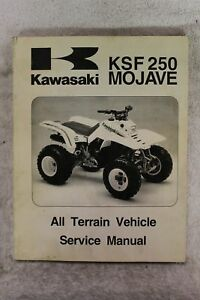 Kawasaki 1987-1997 KSF250 MOJAVE OEM Service Repair Manual P/N 99924 on kawasaki motorcycle wiring diagrams, kawasaki 250 parts diagram, kawasaki kz1000 wiring-diagram, ezgo wiring diagram, kawasaki engine wiring diagrams, kawasaki mule wiring-diagram, kawasaki 100 wiring diagram, kawasaki atv wiring diagram, kawasaki 750 wiring diagram, kawasaki bayou 185 wiring-diagram, kawasaki 500 wiring diagram, kawasaki mojave 250, kawasaki 400 wiring diagram, klr 650 wiring diagram, kawasaki bayou 220 wiring diagram, kawasaki ignition system wiring diagram, suzuki marauder wiring diagram, kawasaki bayou 300 wiring diagram, triton trailer wiring diagram, kawasaki 4 wheeler wiring diagram,