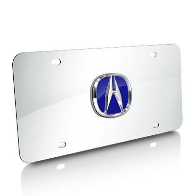 Fleur-De-Lis 3D Emblem Brushed Steel Auto License Plate Au-Tomotive Gold INC