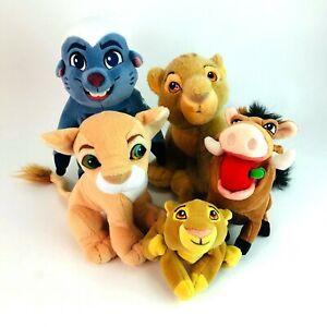 Disney-The-Lion-King-Paquete-De-Medio-Felpa-Juguetes-Simba-Nala-Pumba-Timon-en-muy-buena-condicion
