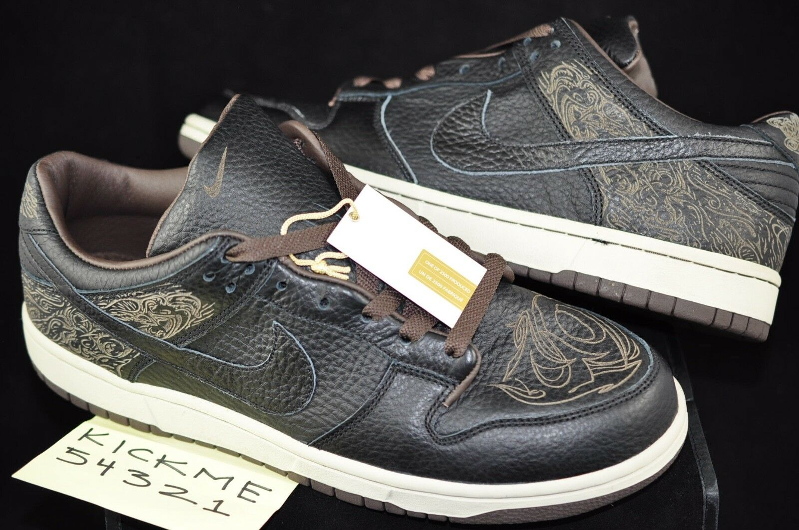2003 NIKE DUNK LOW LASER PACK MICHAEL DESMOND 1 OF 2500 SIZE 10 NEW BLACK LAZER