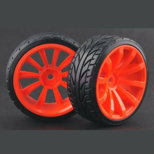 4PCS RC 1//10 On-Road Drift Car Hard Plastic Tyre Tires /& Wheel Rim 9015