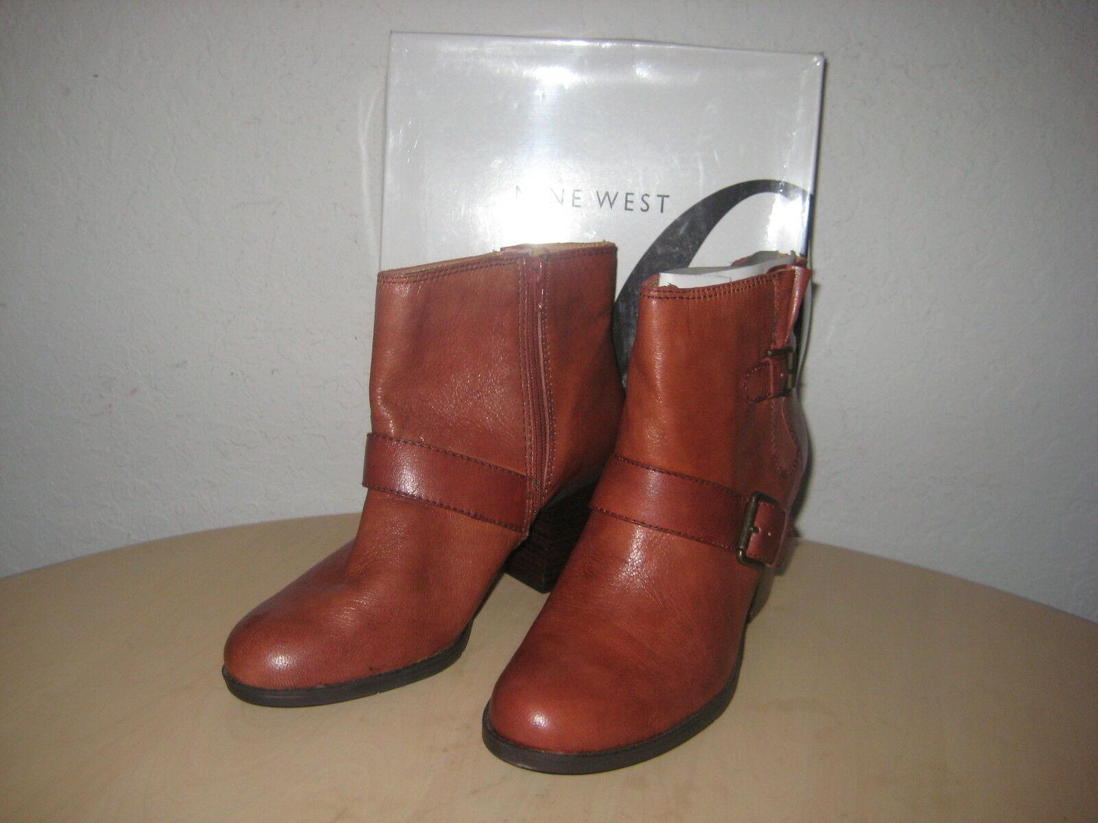 Nine West shoes Size 10.5 M Womens New Lil Dipper Copper Fashion Ankle Boots NWB