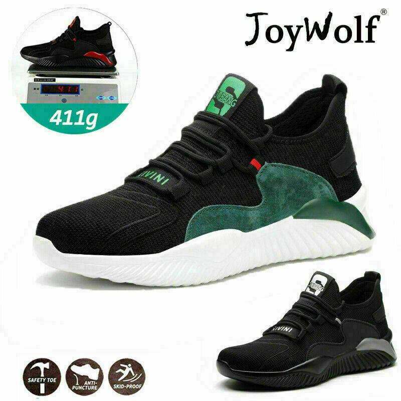 Mens Lightweight Safety Trainers Steel Toe Cap Women Work Shoes Hiking Boots UK