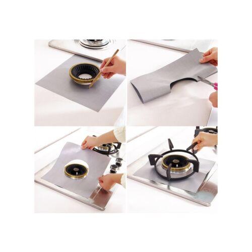 8 x Argent Réutilisable plaque de cuisson au gaz Protecteur TEFLON feuille revêtement antiadhésif Easy Clean