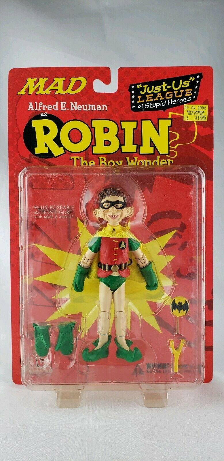 MAD Alfrojo E. Neuman Action Figure Robin Boy Wonder Just Us League 6 DC Direct