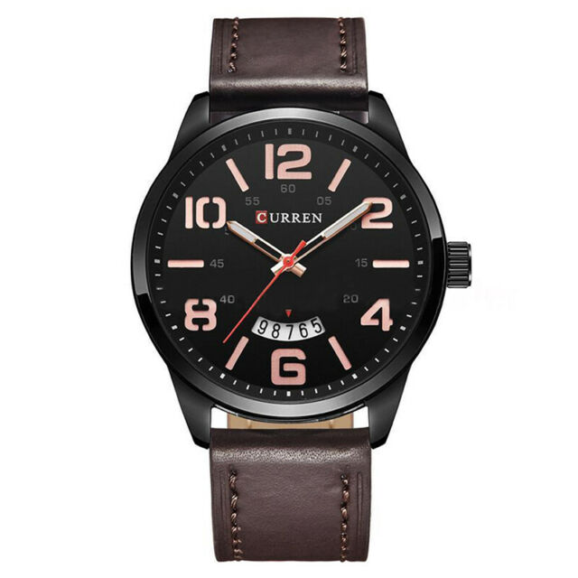 CURREN Fashion Men Casual Sports PU Leather Analog Date Quartz Wrist Watch  M1B8