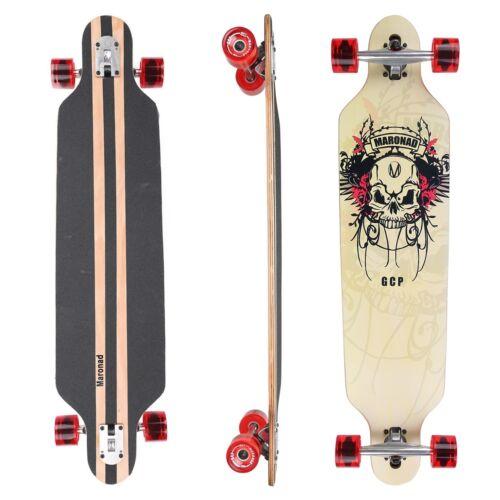 "MARONAD ® Longboard Skateboard 41/"" DROP THROUGH CRUISER ABEC 11 Komplett SCULL"