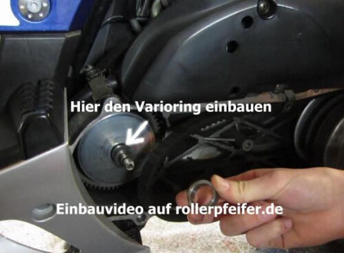 Mofadrossel  Peugeot Speedfight 3 III Tuning Ersatzhülsenset auf 30-35 Km//h