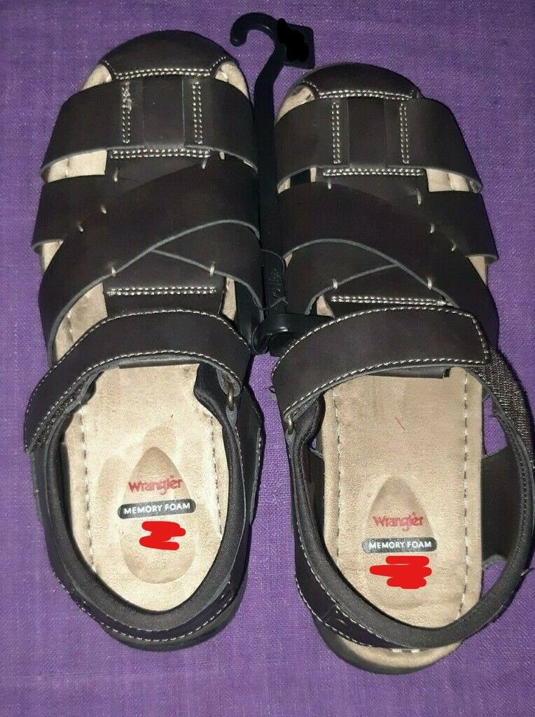 Wrangler Memory Foam Mens Sandals Fishermen Sandals NWOT Sz11