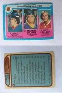 1979-80 OPC O-Pee-Chee #1 Bossy/ Dionne/Lafleur goal leaders   islanders #3