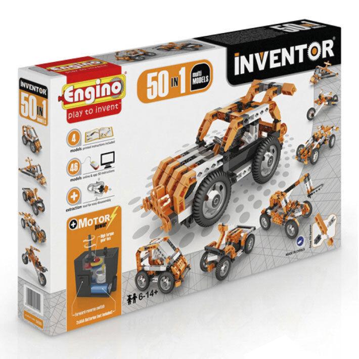 Inventor Motorized  - 50 modellos - Costruzioni Engino  Garanzia del prezzo al 100%