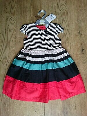 Devoted Boots Miniclub Baby Girls Striped Dress 1-1.5 Years 12-18 Months Brand New W/tag Refreshment