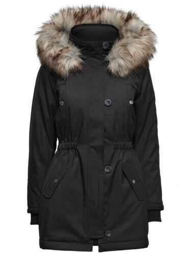 Only Femmes Manteau d/'hiver XS S M L XL XXL onliris Parka Veste Avec Fellkapuze