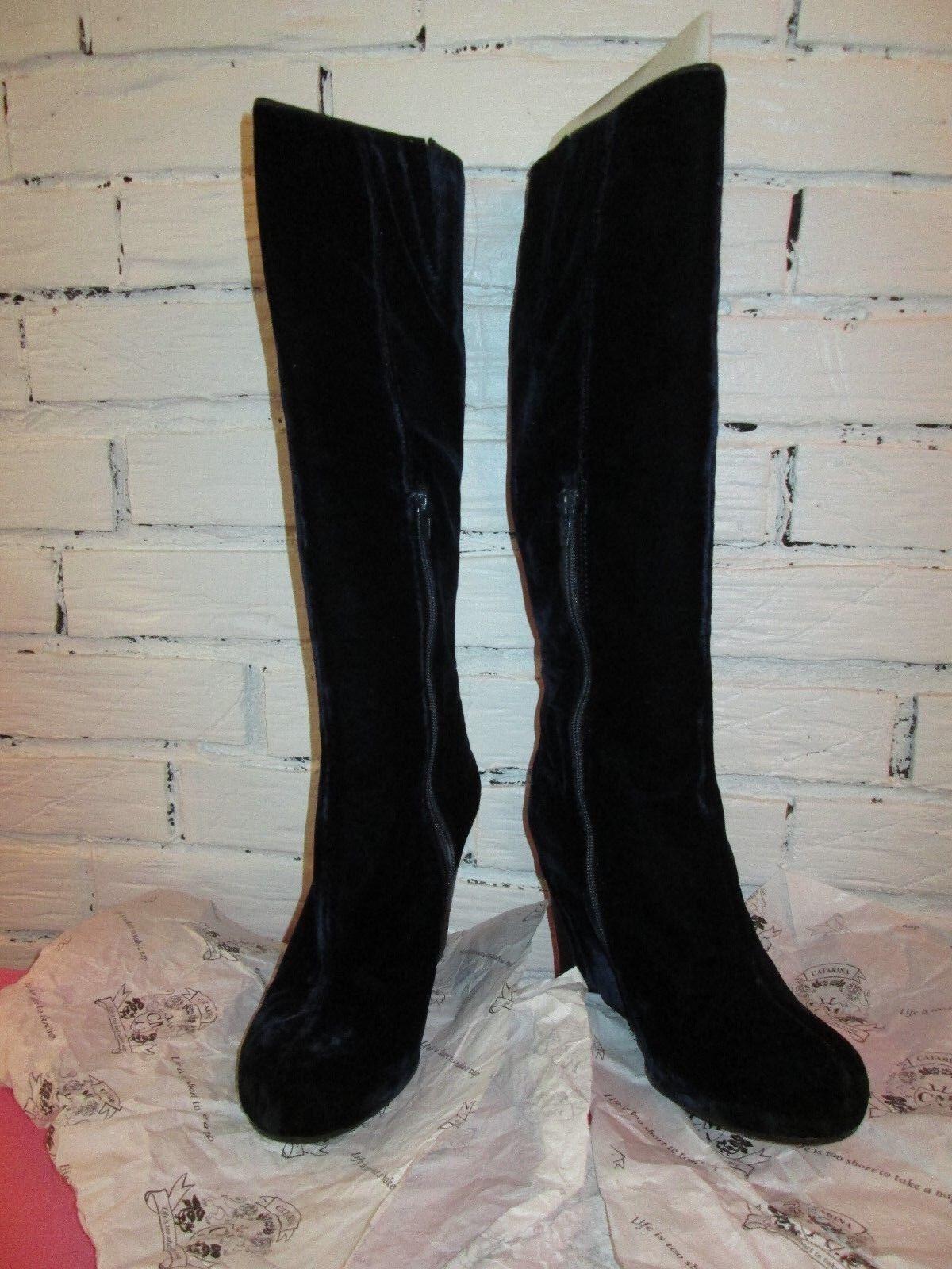 Catarina Martins Amy Women US 9 bluee Knee High Boot Pre Owned 1276 Zipper
