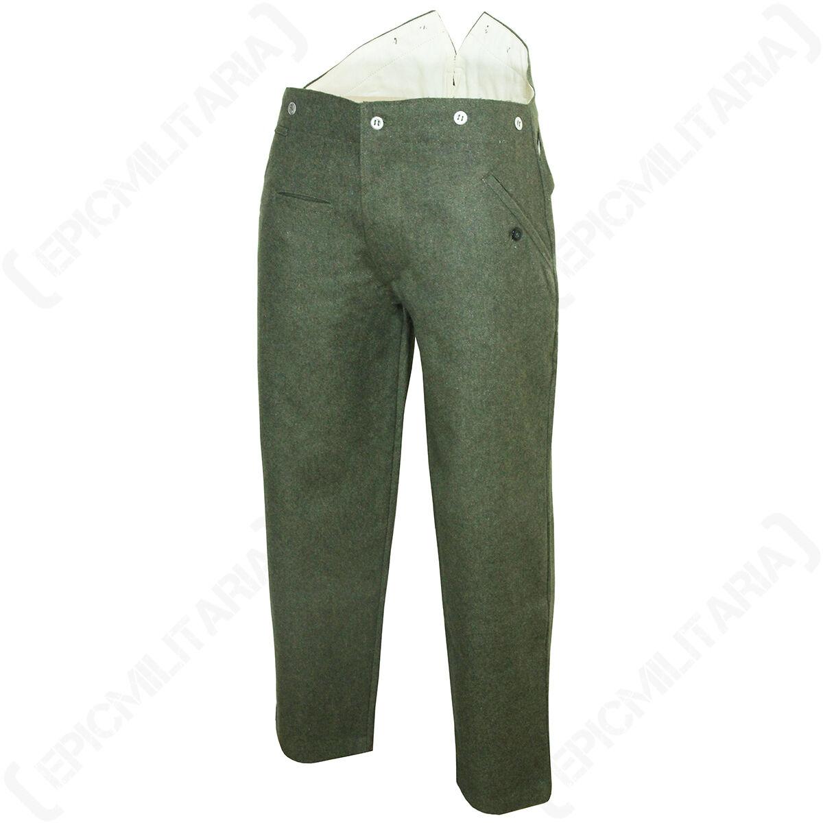 WW1 Deutsche M15 Hose - Reproduktion Militär Armee Uniform Hose green grey Wolle