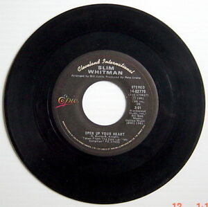 ONE-1981-039-S-45-R-P-M-RECORD-SLIM-WHITMAN-MY-MELODY-OF-LOVE-OPEN-UP-YOUR-HEART