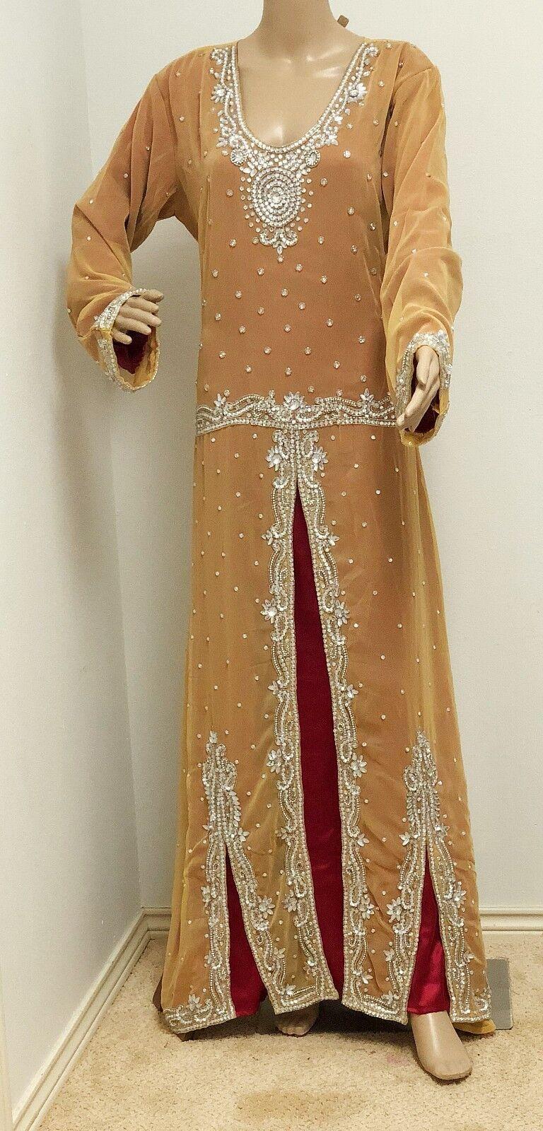 Mink designer Caftan Mgoldccan Jilbab Maxi women's Dress wedding dress gown long