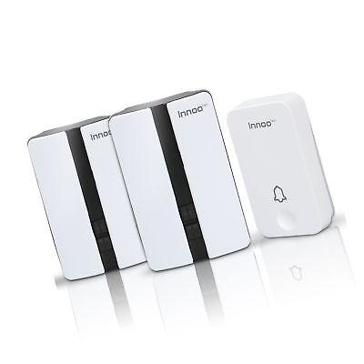 Innoo Tech Door Bell Wireless Plug in Waterproof Door Chime with 2 Receivers...