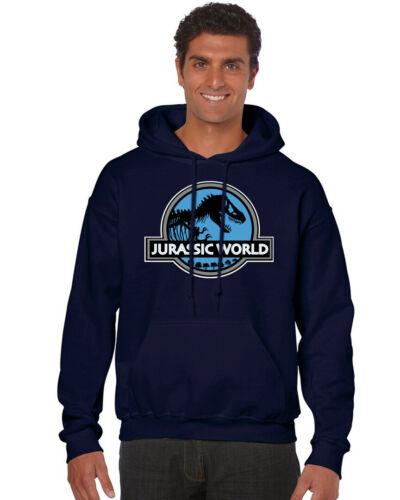REX MOVIE BLUE LOGO DINOSAURS MEN/'S HOODIE SWEATSHIRT 241 NWT JURASSIC WORLD T