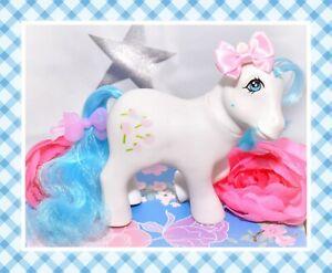 My-Little-Pony-MLP-G1-Vtg-1984-European-UK-Exclusive-White-Tootsie-Blue-Mane