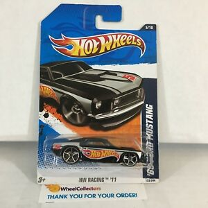 039-69-Ford-Mustang-Negro-2011-Hot-Wheels-Walmart-solo-Negro-B7-B11