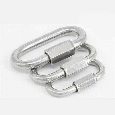 New D Shape Quick Clip Link Set Carabiner Spring Screw Snap gate Hook Karabiner