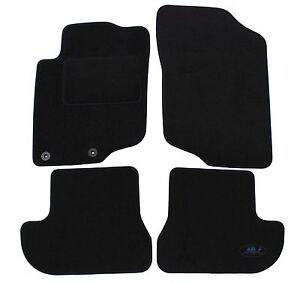 peugeot 207 cc 2006 2012 tapis de sol noir velours sur mesure av ar 4 pcs ebay. Black Bedroom Furniture Sets. Home Design Ideas
