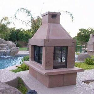 Designer Outdoor Fireplace 3 Screens WOOD BURNING