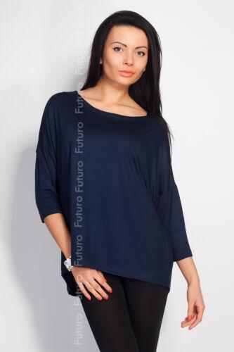 Womesn Elegant Tunic Poncho Style Style Blouse Top 3//4 Sleeve Sizes 8-12 0127
