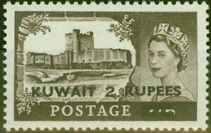Kuwait 1957 2R on 2s6d Black-Brown SG107a Type II V.F Very Lightly Mtd Mint