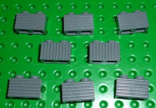DARK BLUISH GREY x 10 BM82 LEGO BRICK MODIFIED 1 x 2 with Grill 2877