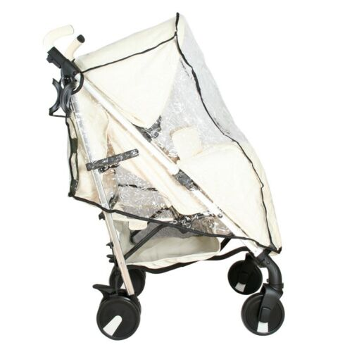 New Cuddle Essential Stroller Pushchair Rain Cover Pink /& Green Trim Lightweight