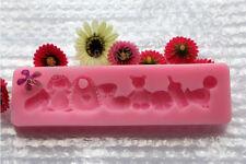 Ferramentas Bolo Moldes De Silicona Fondant Gloves 3D Silicone Bear Cake Mold