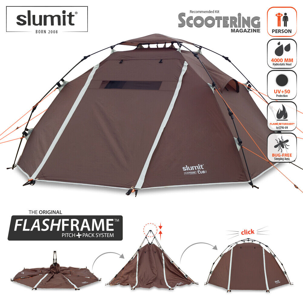 NEW SLUMIT® CUB 2 FLASHFRAME™ INSTANT ERECT TENT - 2019 EDITION (BN18136)