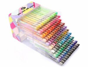BallPoint Tip Color Gel Pens Set Metallic Pastel Neon Coloring 120 ...