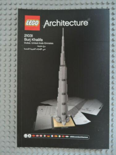 LEGO Recipe//instruction architettura 21031 Burj Khalifa NUOVO