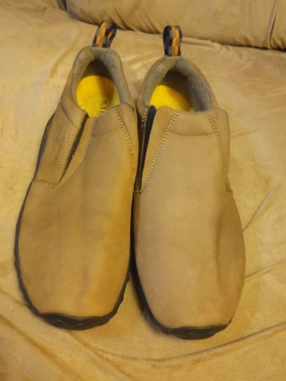 Merrell jungle moc toe size 9 men walking work casual slip on shoe