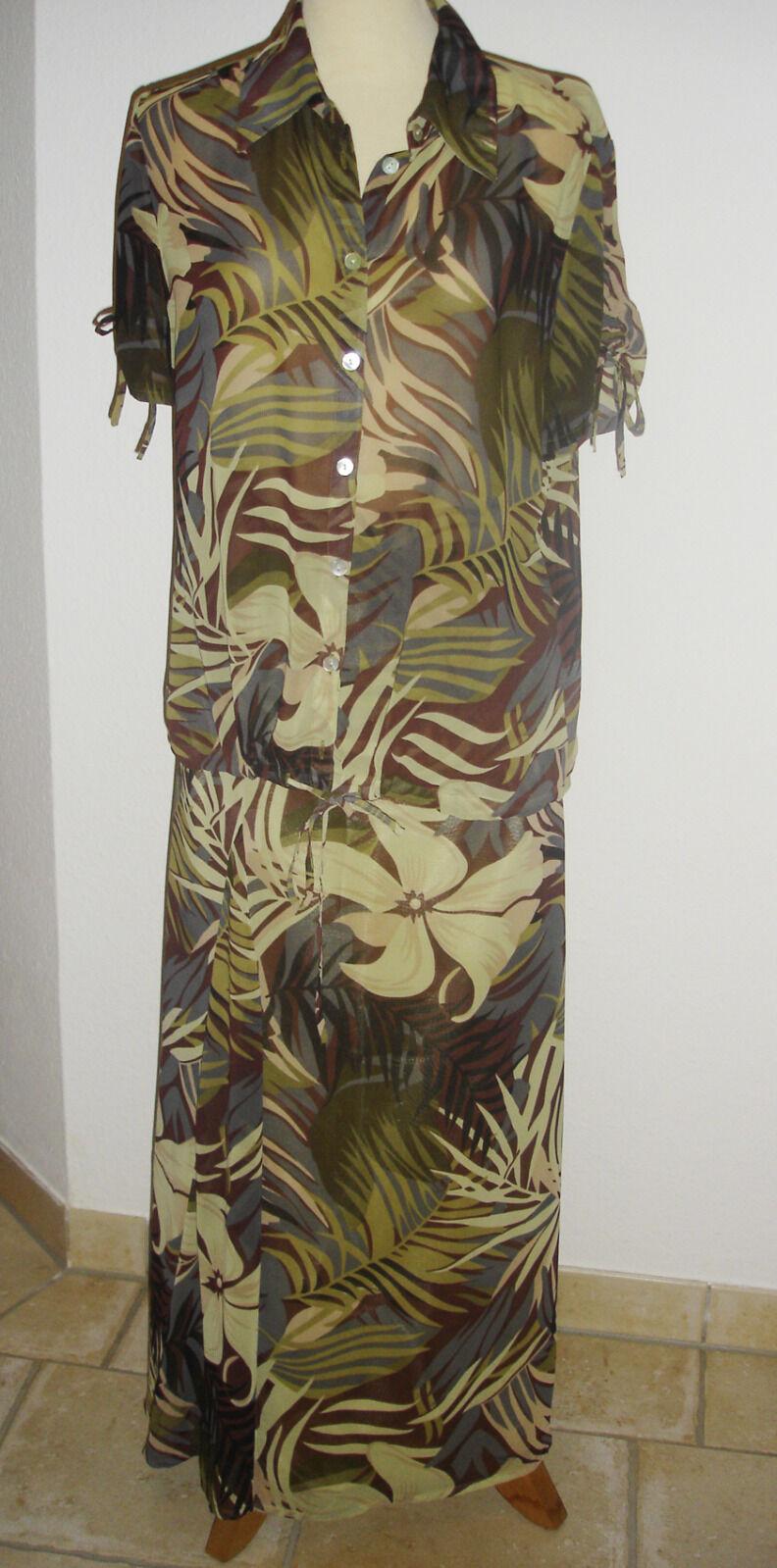 Luftige Bluse und Rock im Dschungel - Look von L Création Gr. 40 Safari TOP!