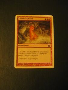 1x-Seismic-Assault-LP-8th-Edition-Commander-EDH-Lands-Jund-Modern-Swans