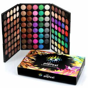 120-Farben-Lidschatten-Eyeshadow-Kosmetik-Matt-Schminke-Palette-Makeup-Set-w-Gi
