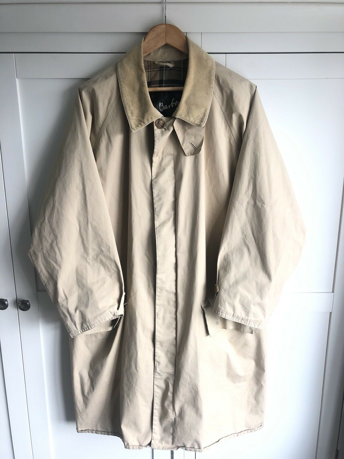 Barbour 3/4 Length Trench Coat XL - Amazing Piece
