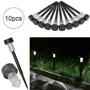 10xRECHARGEABLE-SOLAR-OUTDOOR-LIGHTS-POWERED-GARDEN-POST-PATH-LED-LAWN-PATIO-ACE