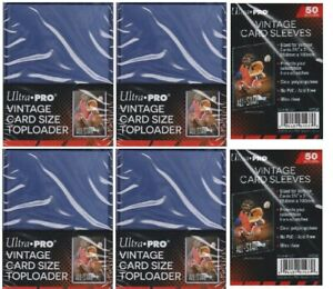 100-Ultra-Pro-Vintage-Toploaders-with-Free-Sleeves-Free-Shipping-Top-Loaders