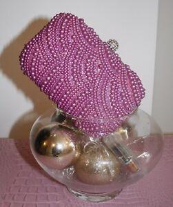 Clutch Mujer De Con Rosa Joya Color De Perlas Broche Bolso FT7qw